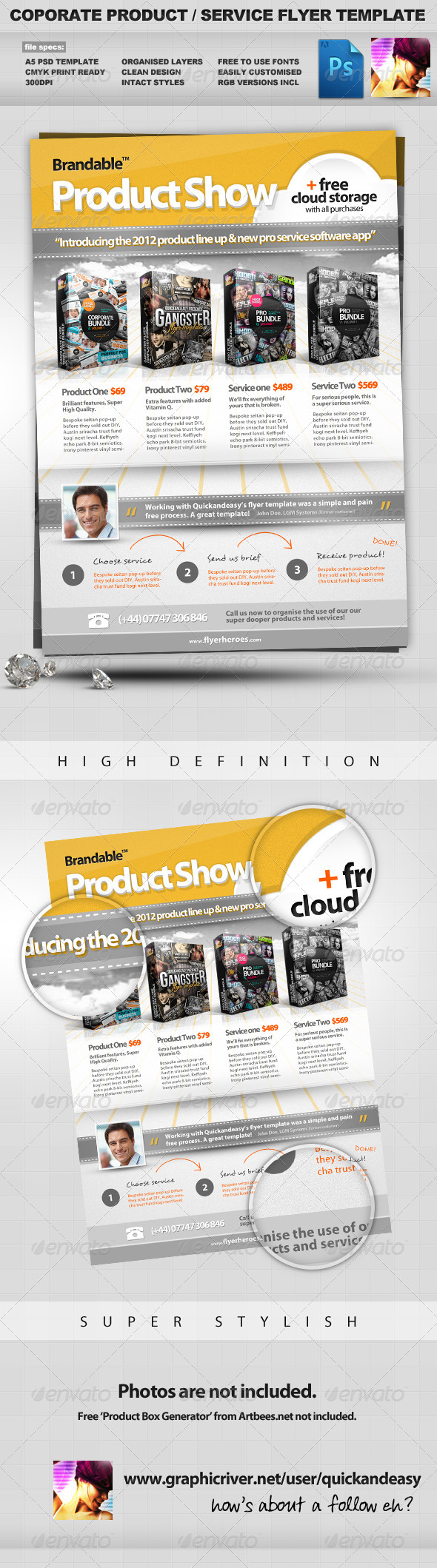Corporate Product / Service PSD Flyer Template 2 - Corporate Flyers