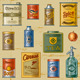 Retro Grocery Set - GraphicRiver Item for Sale