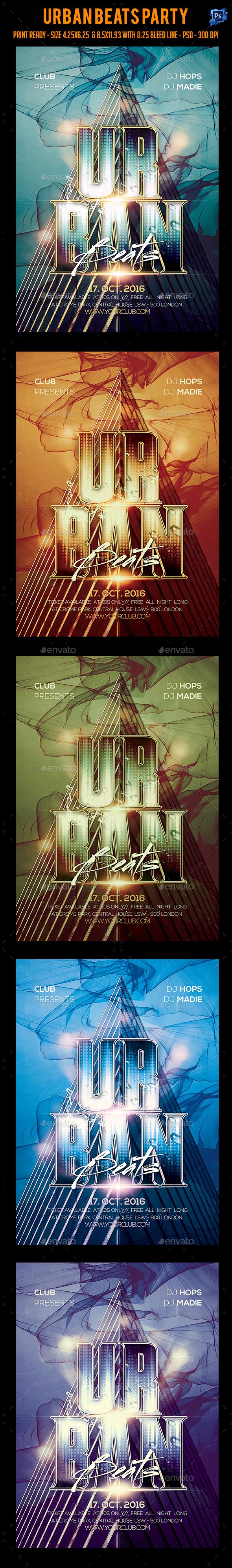 Urban Beats Party Flyer