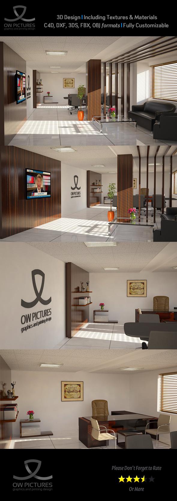 Office2 - 3D Model Design - 3DOcean Item for Sale