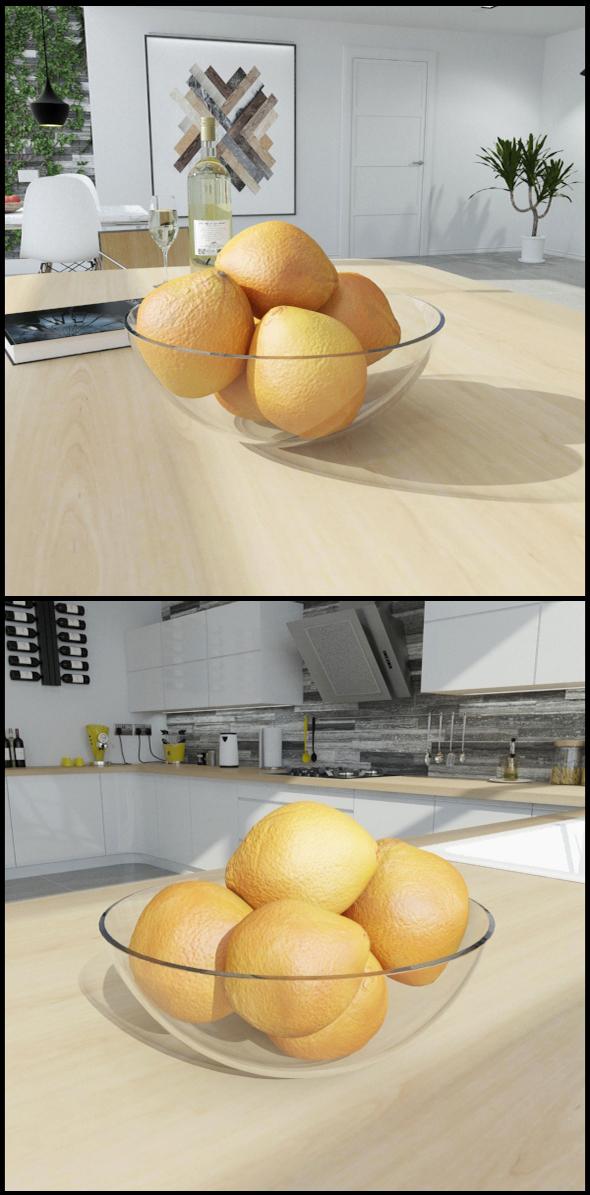 Bowl of oranges - 3DOcean Item for Sale