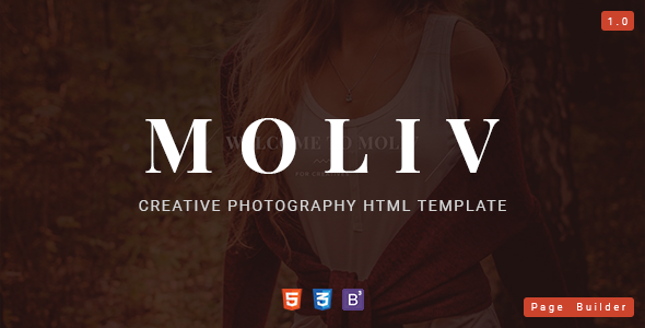 MOLIV - Creative Photography HTML Template with Page Builder