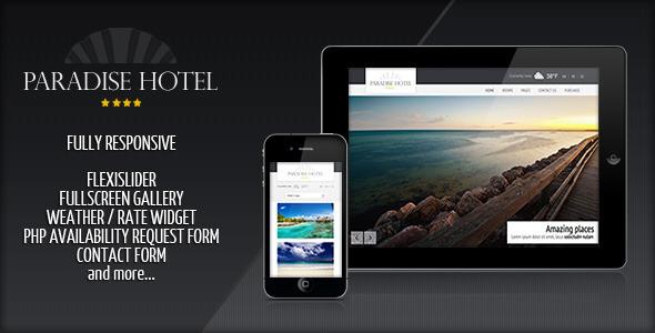 ThemeForest Responsive Paradise Hotel 1735945