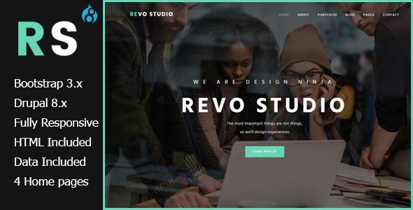 Image of Revo Studio - Multipurpose Drupal 8 Theme