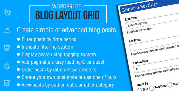 Blog Layout Grid for WordPress