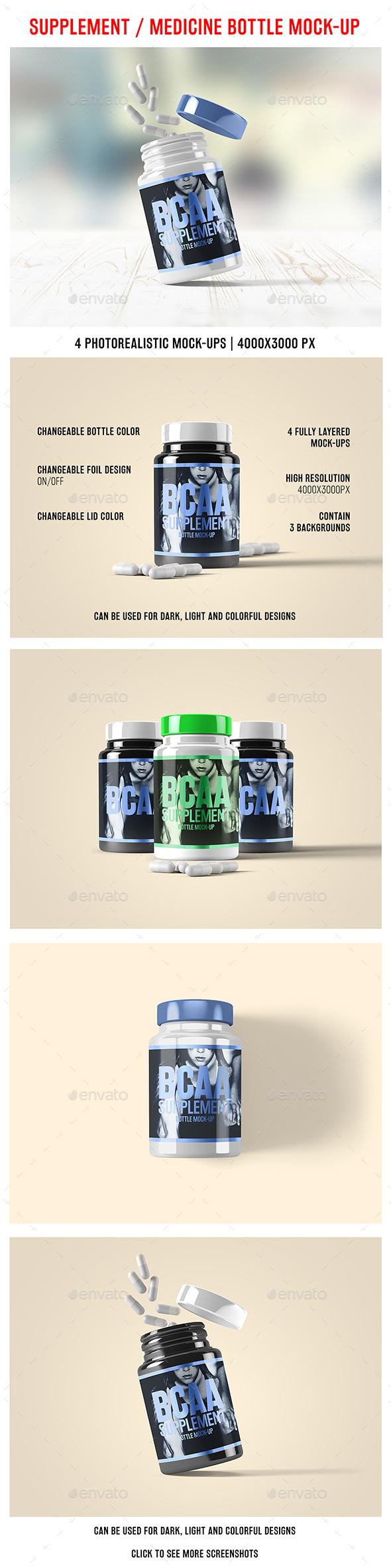 Supplement / Medicine Bottle Mock-Up