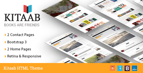 kitaab book store html5 template retail