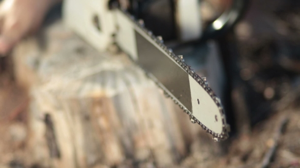 Download  View Of Working Chainsaw Blade nulled download