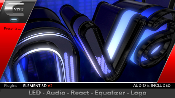 LED Audio React Equalizer Logo Light After Effects Templates