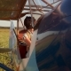Girl In An Old Airplane