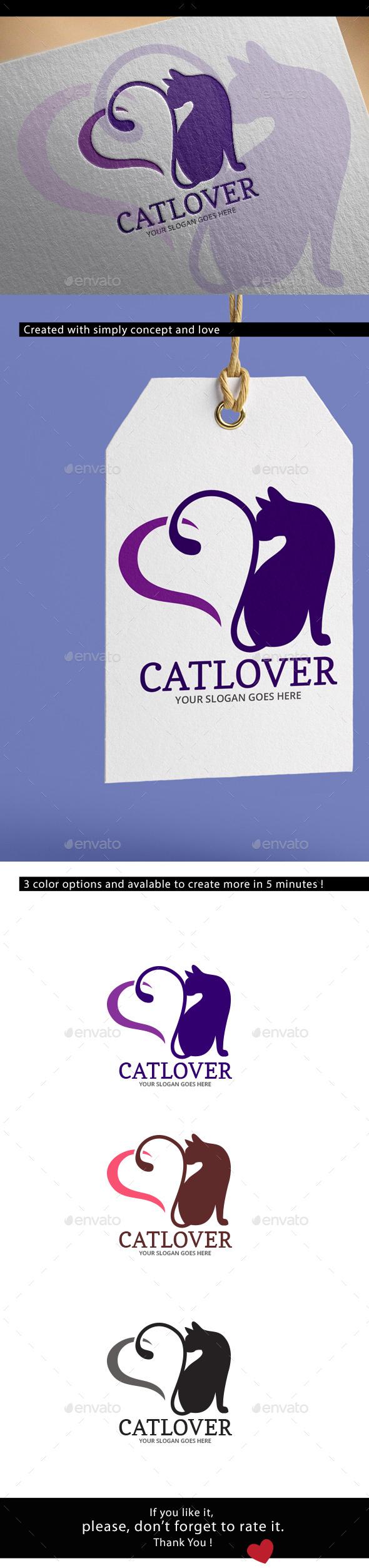 Cat Lover Logo