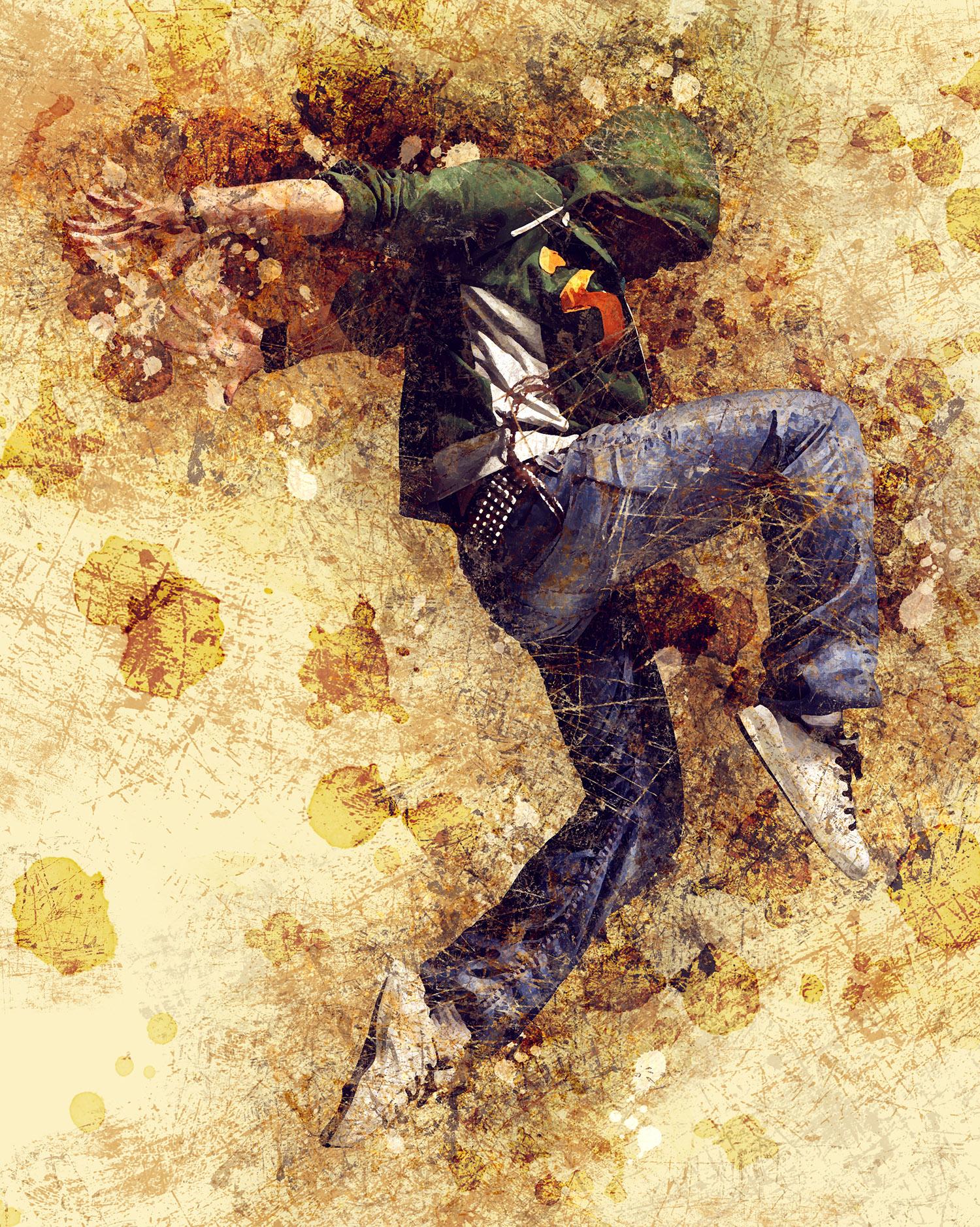 Grunge Art Photoshop Action by IndWorks   GraphicRiver  Grunge