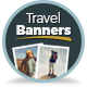 Multipurpose Travel Agency Banners - HTML5 Animated GWD