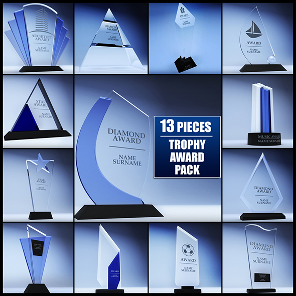 3DOcean Trophy award cup low poly pack 17471877