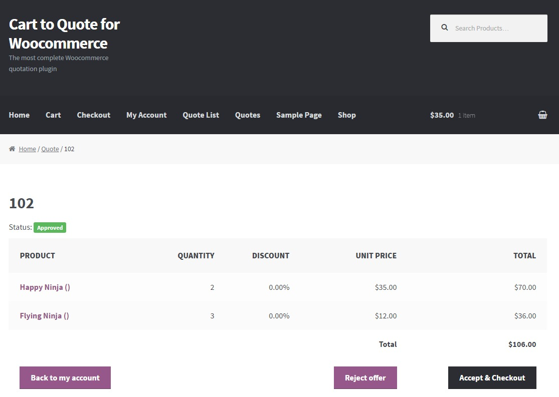 Cart to Quote for Woocommerce Download