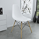 White Eames Plastic Chair (DSW)