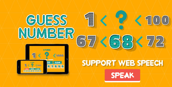 Download Guess Number - HTML5 Game nulled download