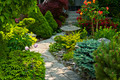Garden path with stone landscaping - PhotoDune Item for Sale