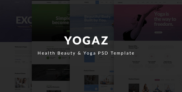 Yogaz - Healthy Beauty & Yoga PSD Template