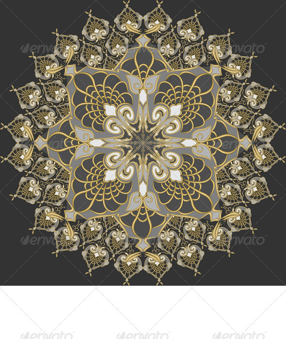 Vector Seamless Gold Pattern  - Patterns Decorative