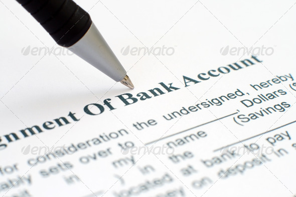 Bank account form - Stock Photo - Images
