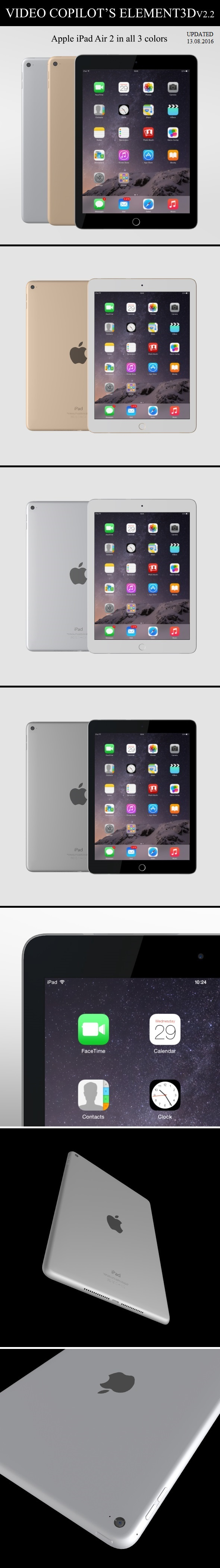 Element3D - Apple iPad Air 2 - 3DOcean Item for Sale