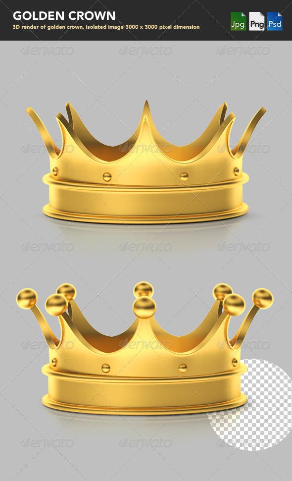 Golden Crown - Objects 3D Renders