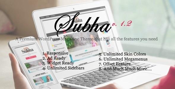 Subha - A Premium Newspaper Magazine WordPress Theme