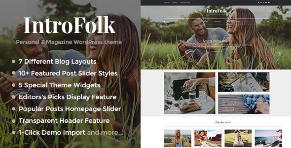 Download Introfolk - Personal & Magazine WordPress Responsive Blog Theme nulled download