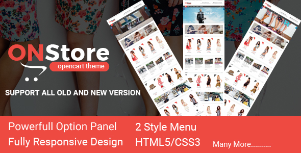 Image of ONStore Responsive OpenCart Theme