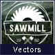 Carpentry Wood Badges Logos
