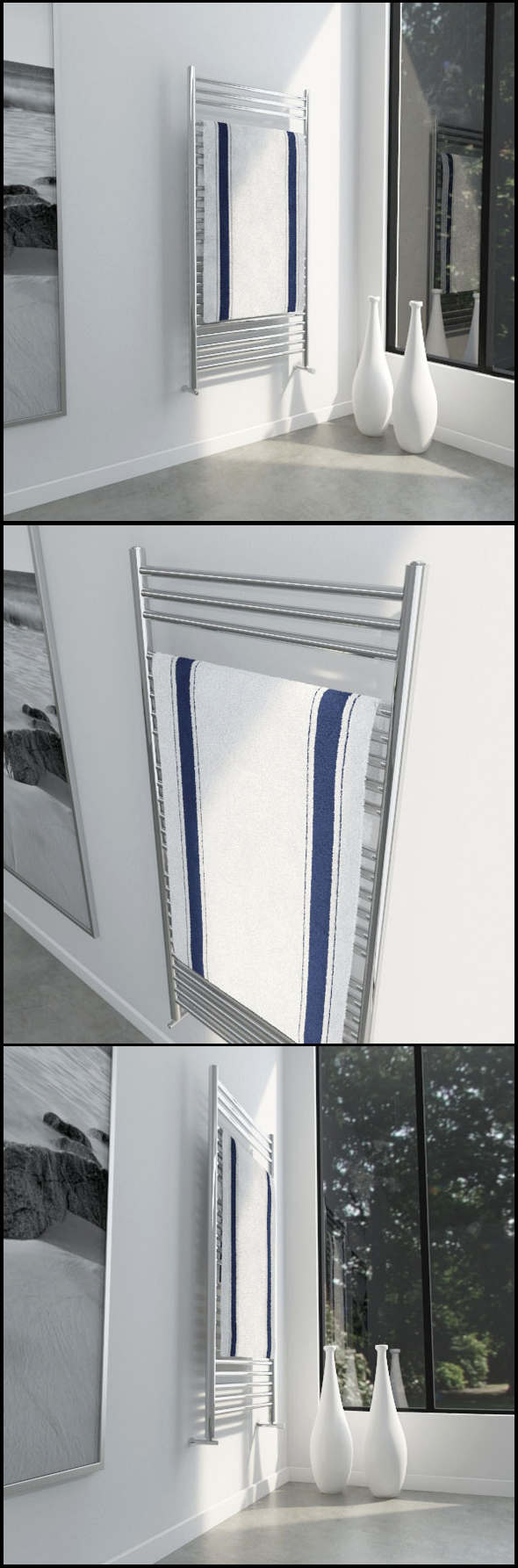 Towel rail with towel - 3DOcean Item for Sale