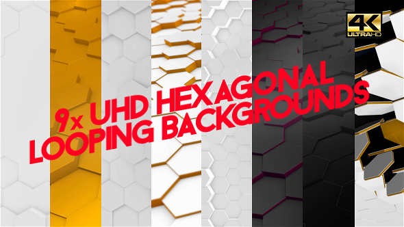 Download Nine Honeycomb Looping Backgrounds 4K nulled download