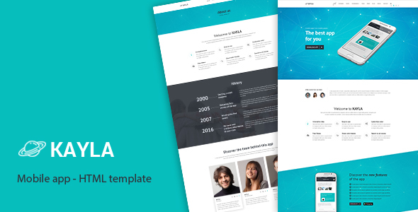Kayla - One Page App HTML Template