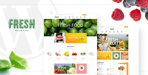 Download Fresh - Food and Restaurant WooCommerce WordPress Theme