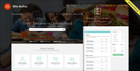 Download QuickFood - Delivery or Takeaway Food WordPress Theme nulled download