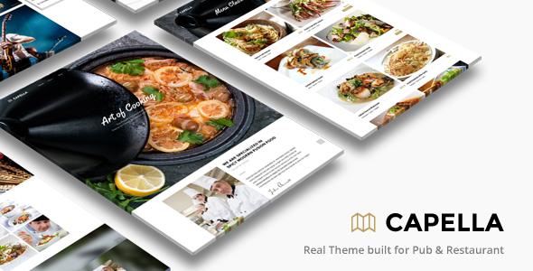 Capella Parallax Cafe and Restaurant Theme