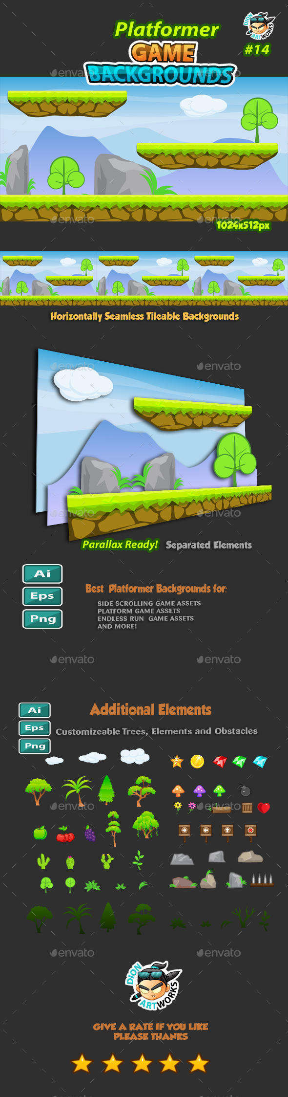 Platformer Game Background 14 (Backgrounds)