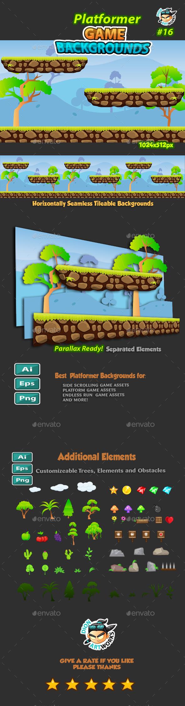 Platformer Game Background 16 (Backgrounds)