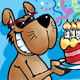 Dog with Cake - GraphicRiver Item for Sale