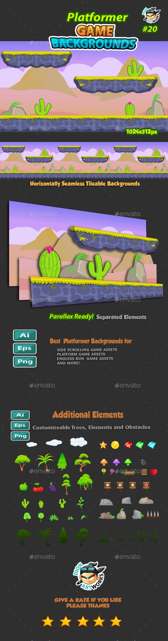 Platformer Game Background 20 (Backgrounds)