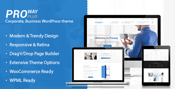 ProWay Plus - Business, Finance WordPress theme