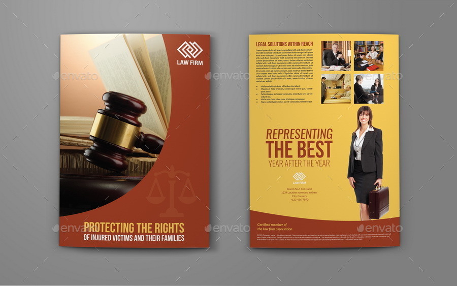Law Firm BiFold Brochure Template by OWPictures – Law Firm Brochure