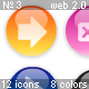 Glossy Web 2.0 Menu Icons – Set 3. Navigation. - ActiveDen Item for Sale