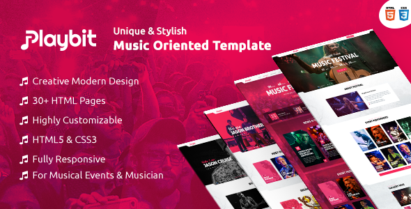 Playbit - Bootstrap Music Template