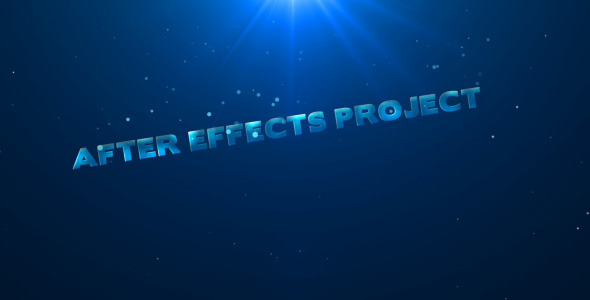 After Effects Project - VideoHive Aqua Titles 1694082