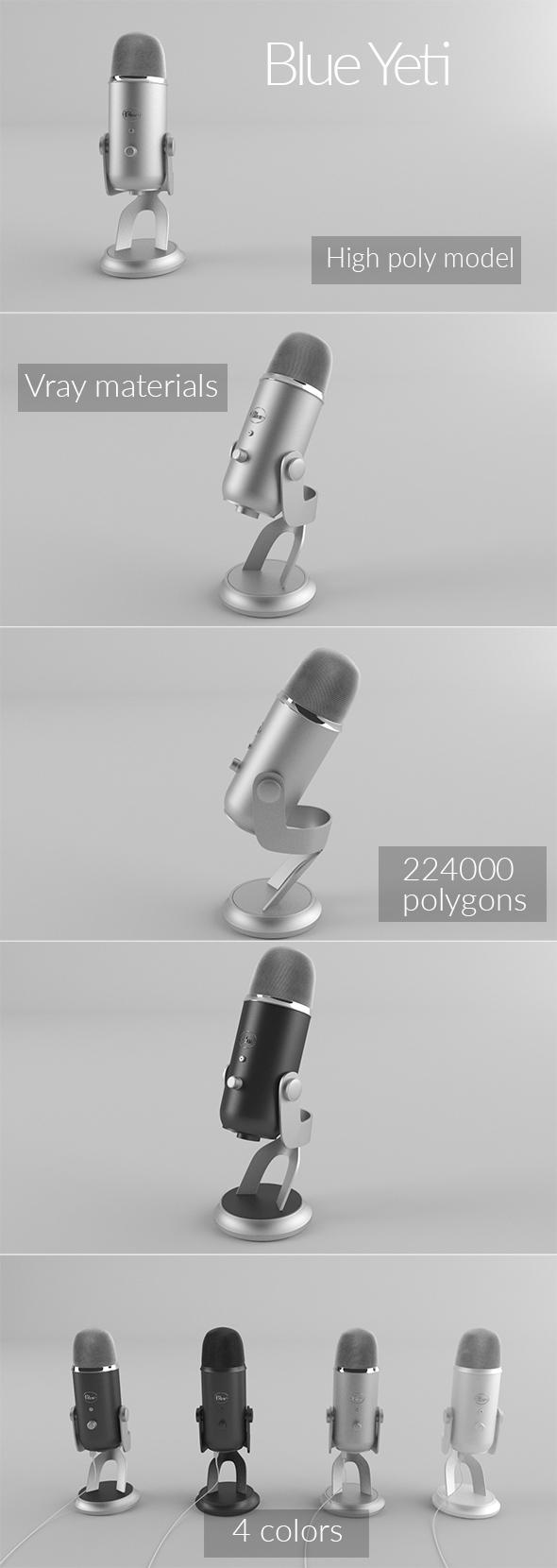 Blue Yeti - 3DOcean Item for Sale
