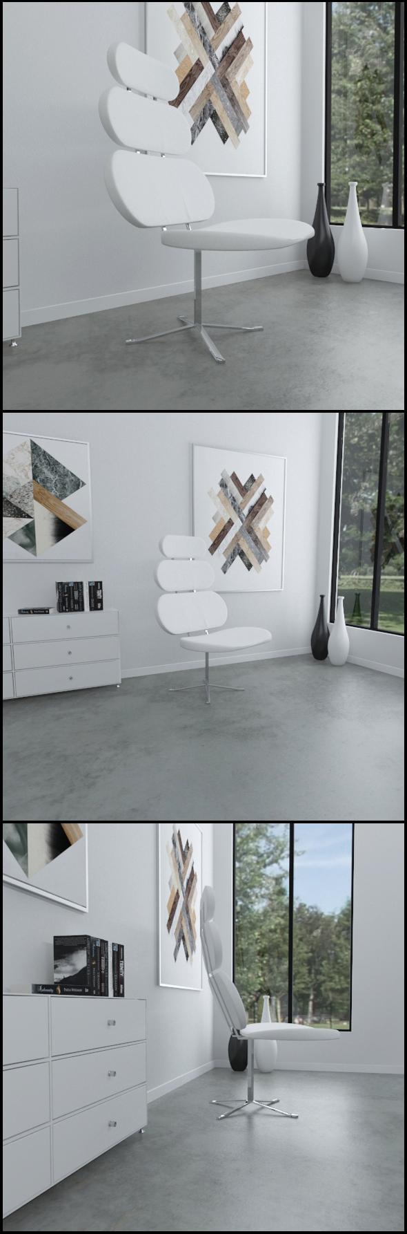 Modern retro chair - 3DOcean Item for Sale