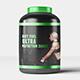 Sports Nutrition Supplements Bottle Mock-Up