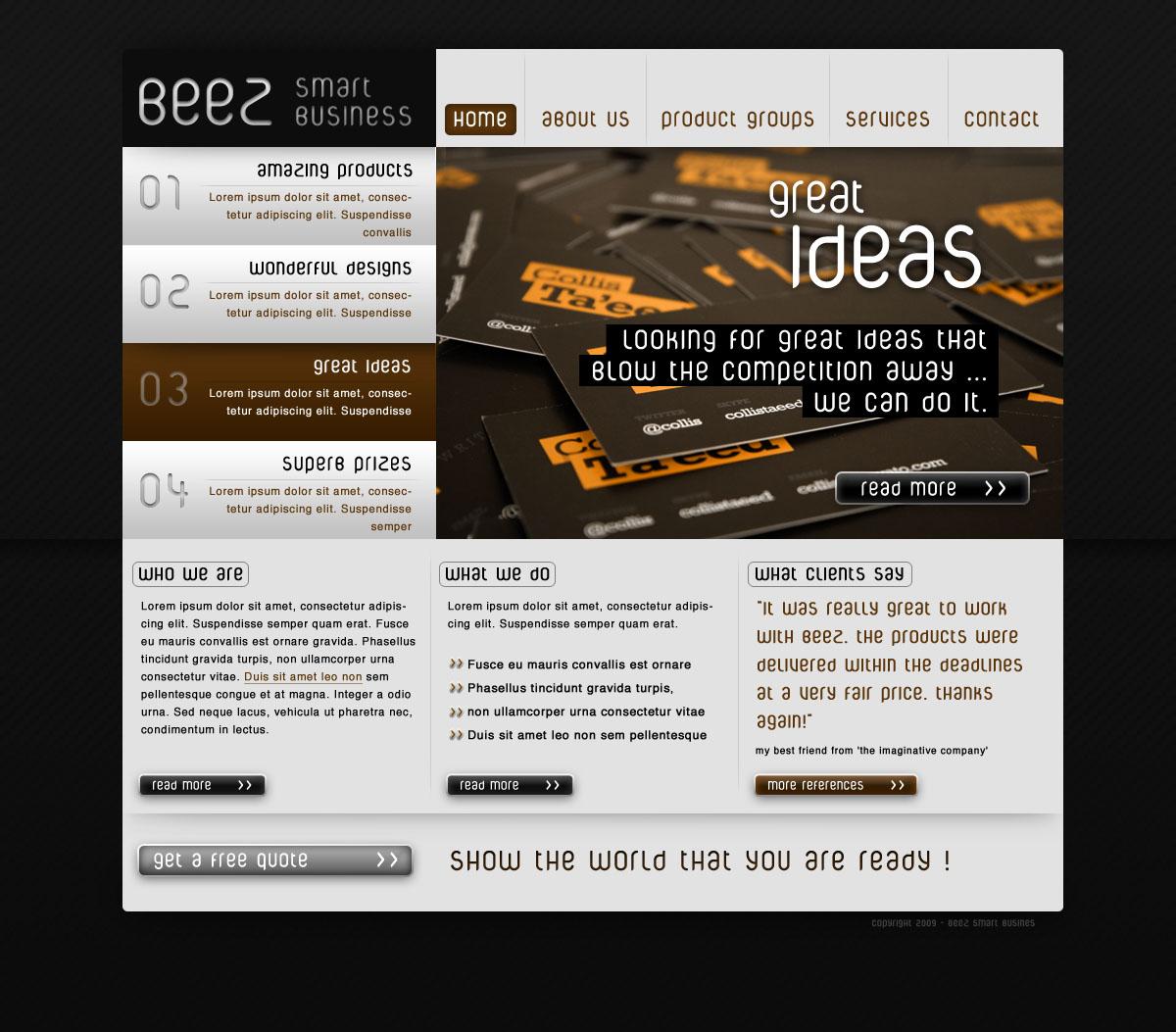 BEEZ - smart business website template